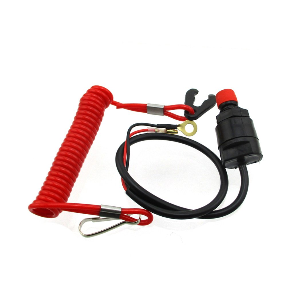 XLJOY Safety Tether Lanyard Kill Stop Switch For Outboard Motor Boat Jet Ski,also used on ATV,Snowmobile,Scooter,Dirt Bike,and other motorcycles