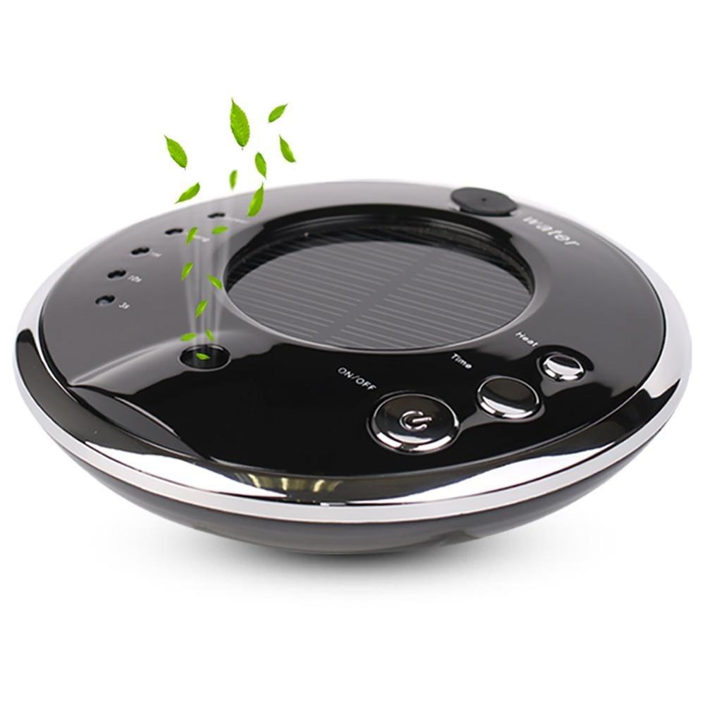 CZKQJHQ Auto Luftreiniger, Luftbefeuchter und Aroma-Diffusor, Solar oder USB aufladen , black