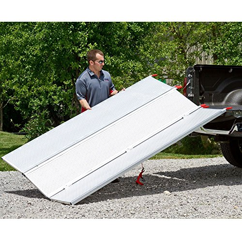 94x54 Solid Surface Tri-Fold ATV Pickup Truck Ramp by Black Widow (Image #4)