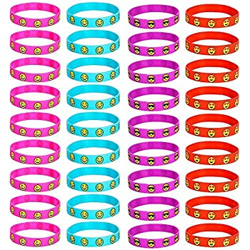 Amazon Com Kicko 24 Rubber Bracelets With Sayings 8