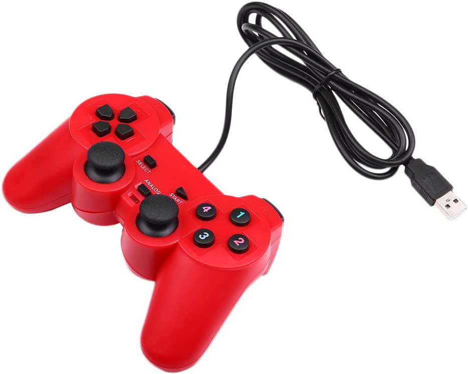 Haihuic Double Vibration USB Wired ABS Game Controller Gamepad Joystick For Windows PC