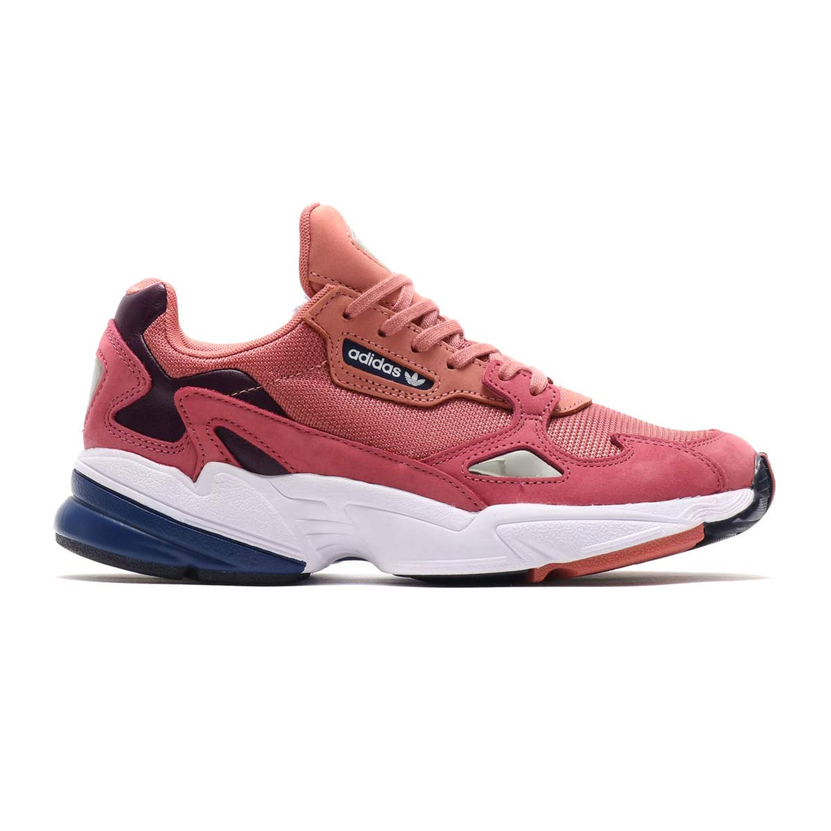 new style b272f 3a865 Amazon.com   adidas Falcon Womens in Raw Pink Dark Blue   Shoes