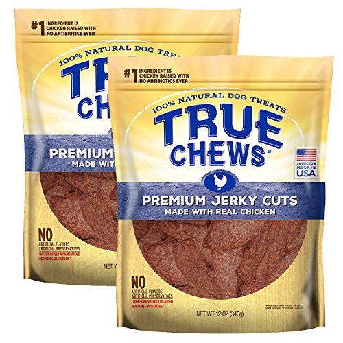 - Tyson Pet True Chews. Premium Jerky Cuts Made with Real Chicken (2-Pack).