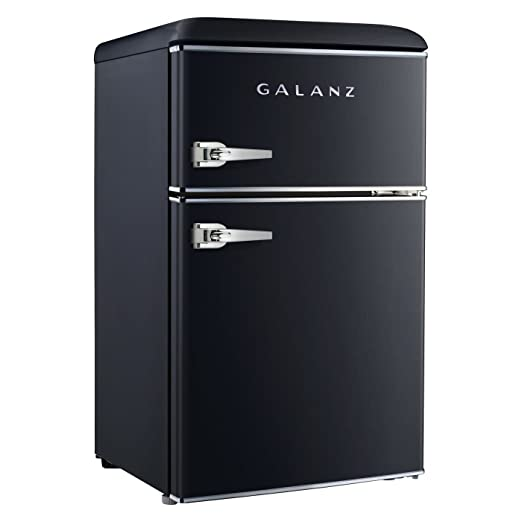 Amazon.com  Galanz 3.1 cu ft Black Retro Mini Fridge  Appliances