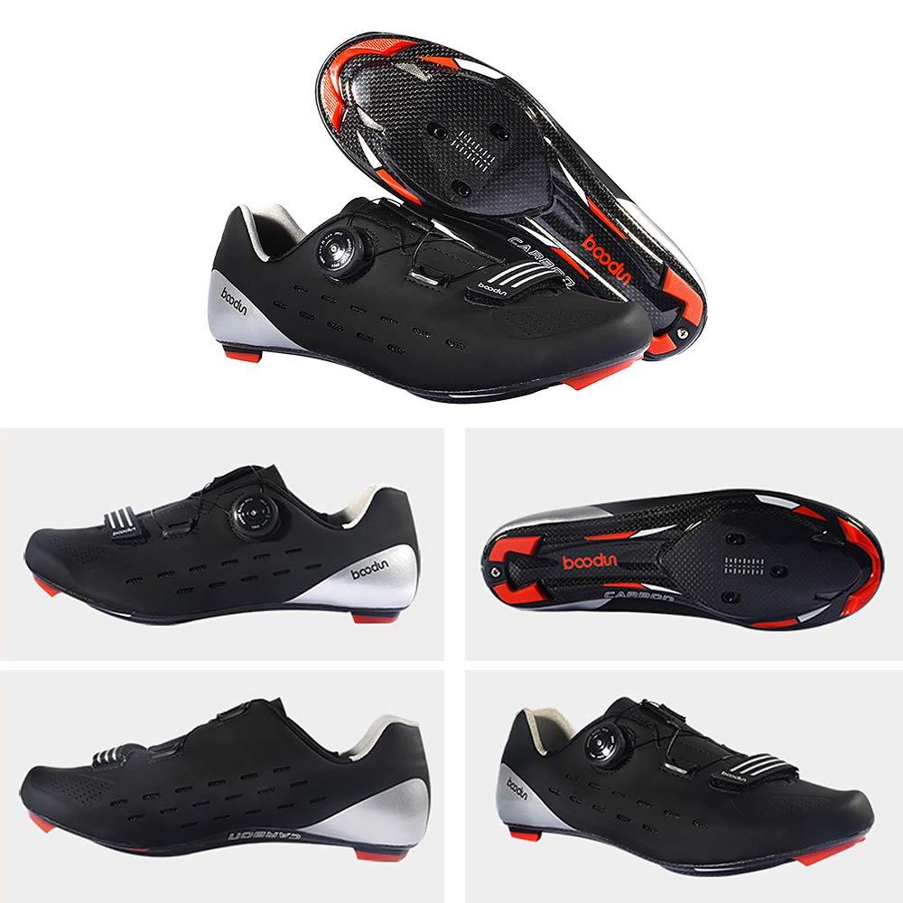 Chaussure De V/élo De Route Lixada Chaussures D/équitation Respirant Chaussure de Ultra-L/éger de en Fiber De Carbone de Auto-Lock pour V/élo
