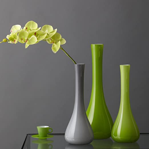 Leonardo 035616 Sacchetta Vase Verre Gris 60 cm
