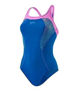 6c032ff59587 Speedo - Fit Kickback Maillot de Bain - Femme - Bleu Violet - FR  40 ...