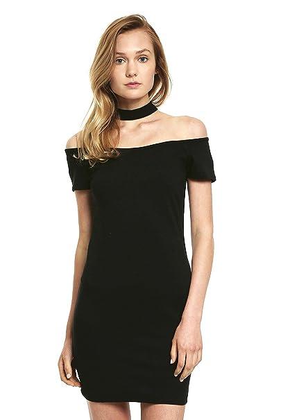 Vestido negro cuello choker