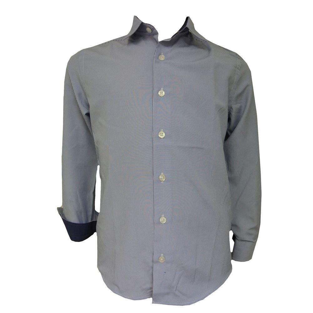 blau Festliches Langarmhemd Slim-Fit Gemustert Jungen G.O.L