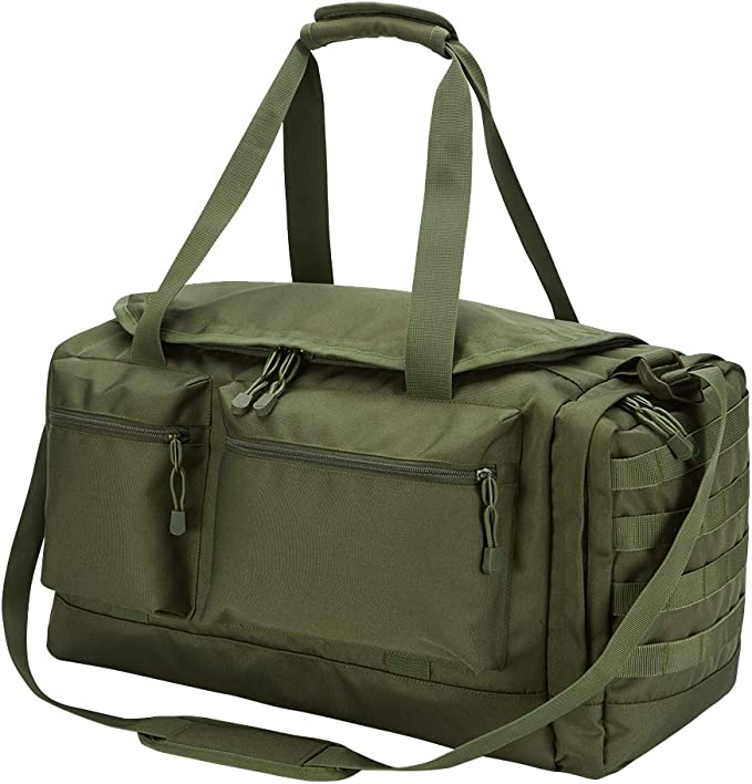 Image of the YoKelly Military Duffel Bag in olive green color.