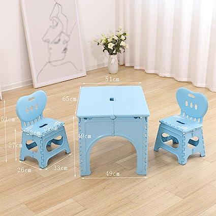 Table Pliante Pour Enfants Bureau Bebe De 2 A 7 Ans Chaise Portable En Plastique Et Chaise Amazon Fr Cuisine Maison