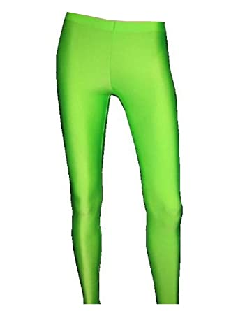 3d2c28e51f852 Amazon.com: Womens Neon UV Green Leggings: Clothing