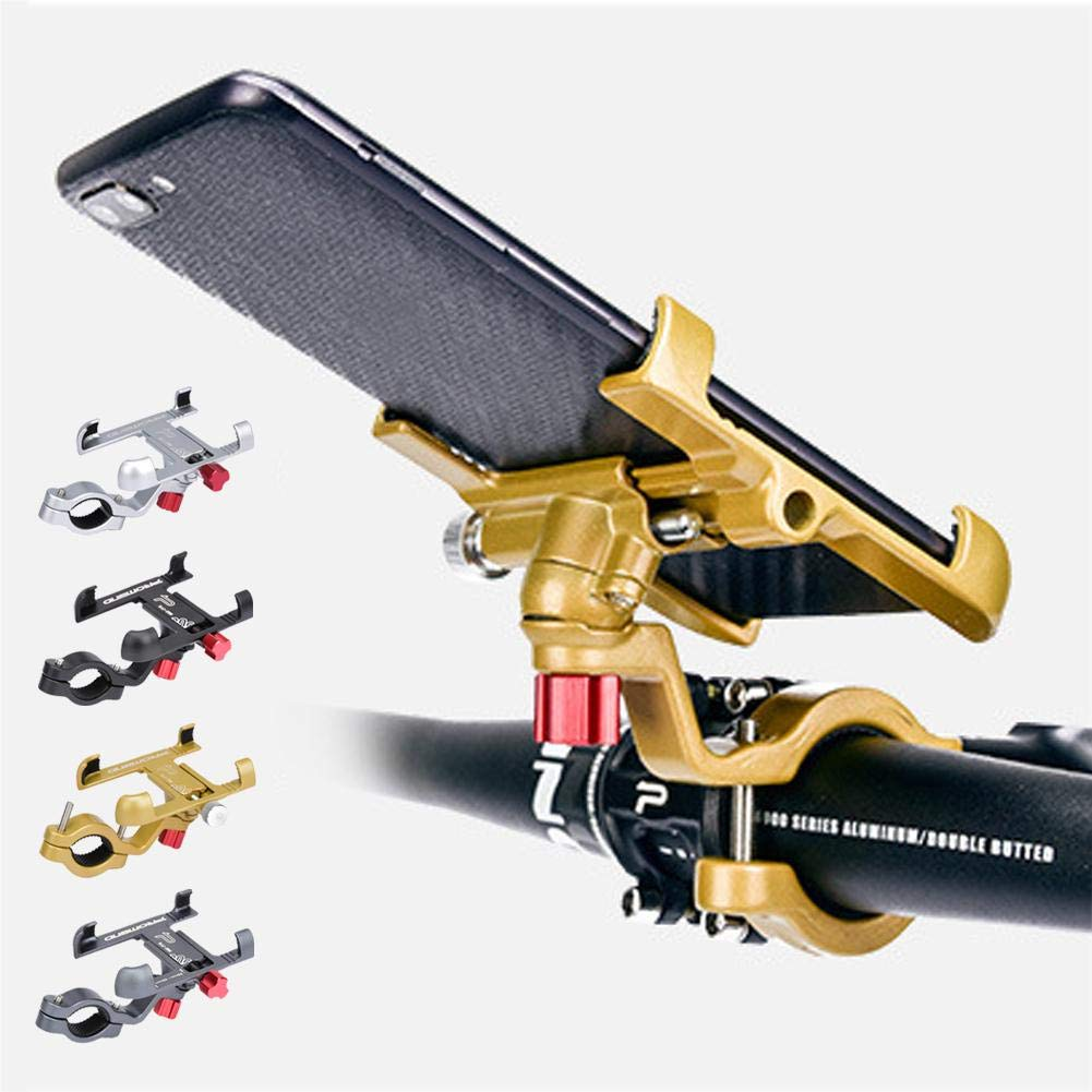 G-wukeer Soporte De Tel/éfono M/óvil De Aleaci/ón De Aluminio Soporte De Navegaci/ón GPS De Bicicleta De /Ángulo Ajustable Giratorio para Manillar De Tubo Redondo De 25 Mm ~ 31.8 Mm
