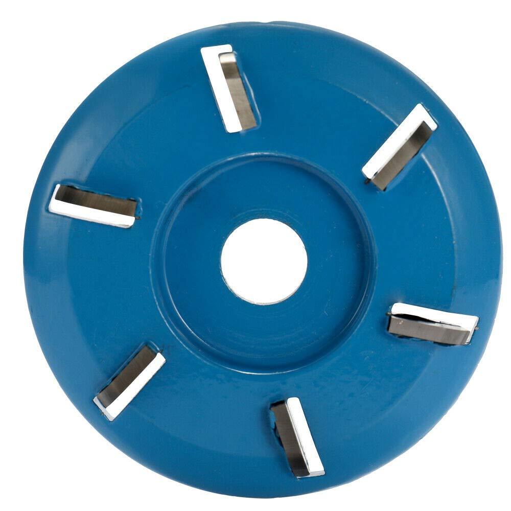 Aikeec Disque de sculpture sur bois Dents darc Disque de fraisage pour outil de cha/îne /à 6 dents Power Grinder pour une meuleuse /à angle douverture de 16 mm