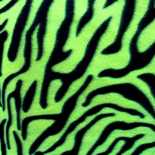 - Neon Green Zebra Fleece Fabric, 60