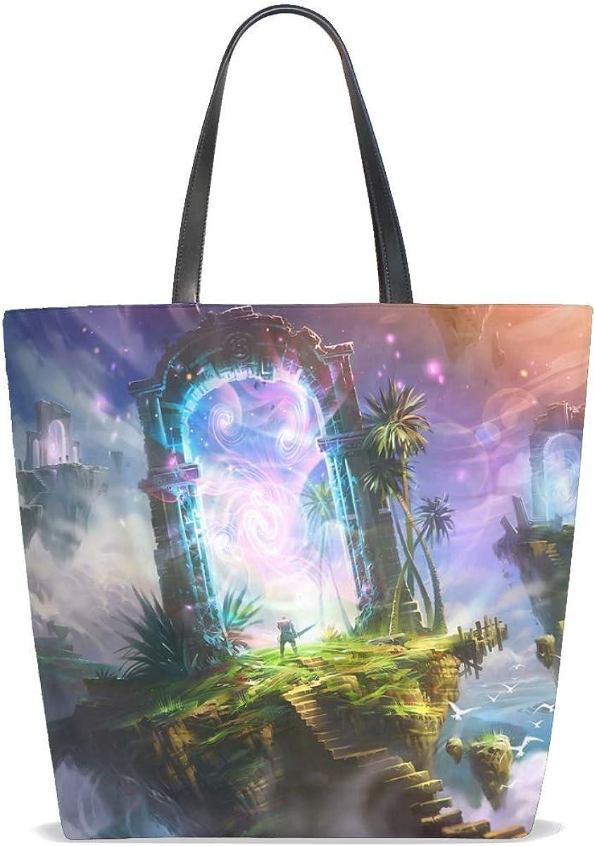 Rocks Steps Warrior Portal Art Tote Bag Purse Handbag For Women Girls