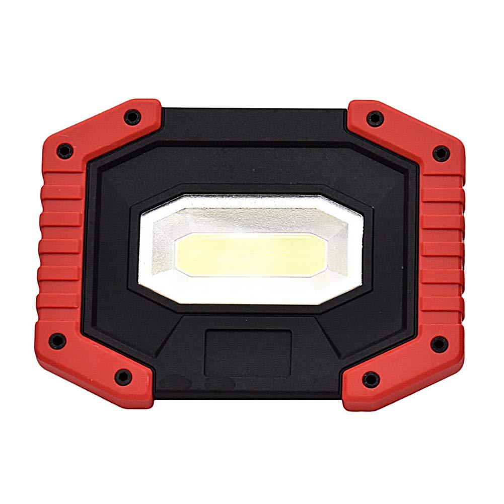 sin Pilas PUAO COB Exterior l/ámpara de Trabajo port/átil LED l/ámpara de Trabajo Foco Doble Puerto USB 20/W 3/Modos de luz de d/ía para Obras Taller Exterior entornos Caving Camping