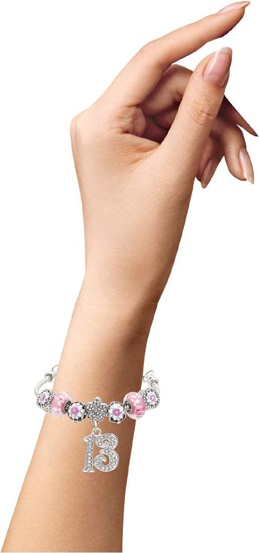 Girls 13th Birthday Bracelet 13th birthday Cherry blossom dandelion jewelry Jewelry for Girls 13 Years Old Birthday Gift for 13 Year Old Girl 13th Birthday Jewelry 13 Necklace Girls