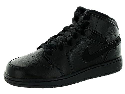 7d70f22a19c Nike Boys' Jordan 1 Mid (Bg) Basketball Shoes: Amazon.co.uk: Shoes ...
