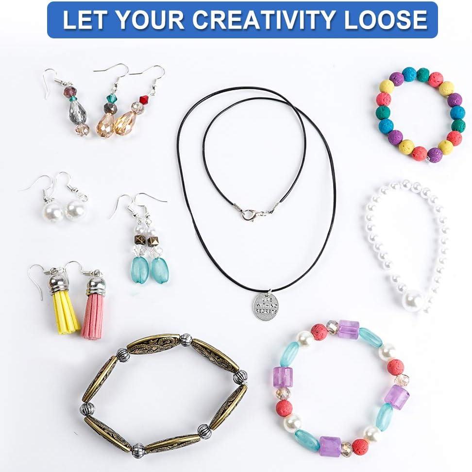 Jewelry Making Kit Jewelry Findings Starter Set Jewelry Beading Making and U2Q6
