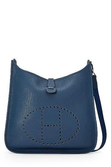 d7af09df9b49 Image Unavailable. Image not available for. Color  Hermes Blue Indigo Togo  Evelyne I GM ...