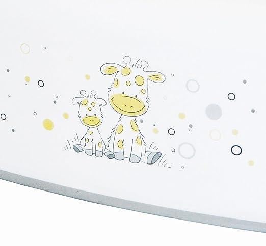 Tritth/öhe ca mit Motiv Giraffe und Anti Rutsch Funktion einstufig ab 12 Monate bis etwa 10 Jahre BIECO 11001703 Kinder Tritthocker wei/ß 14 cm