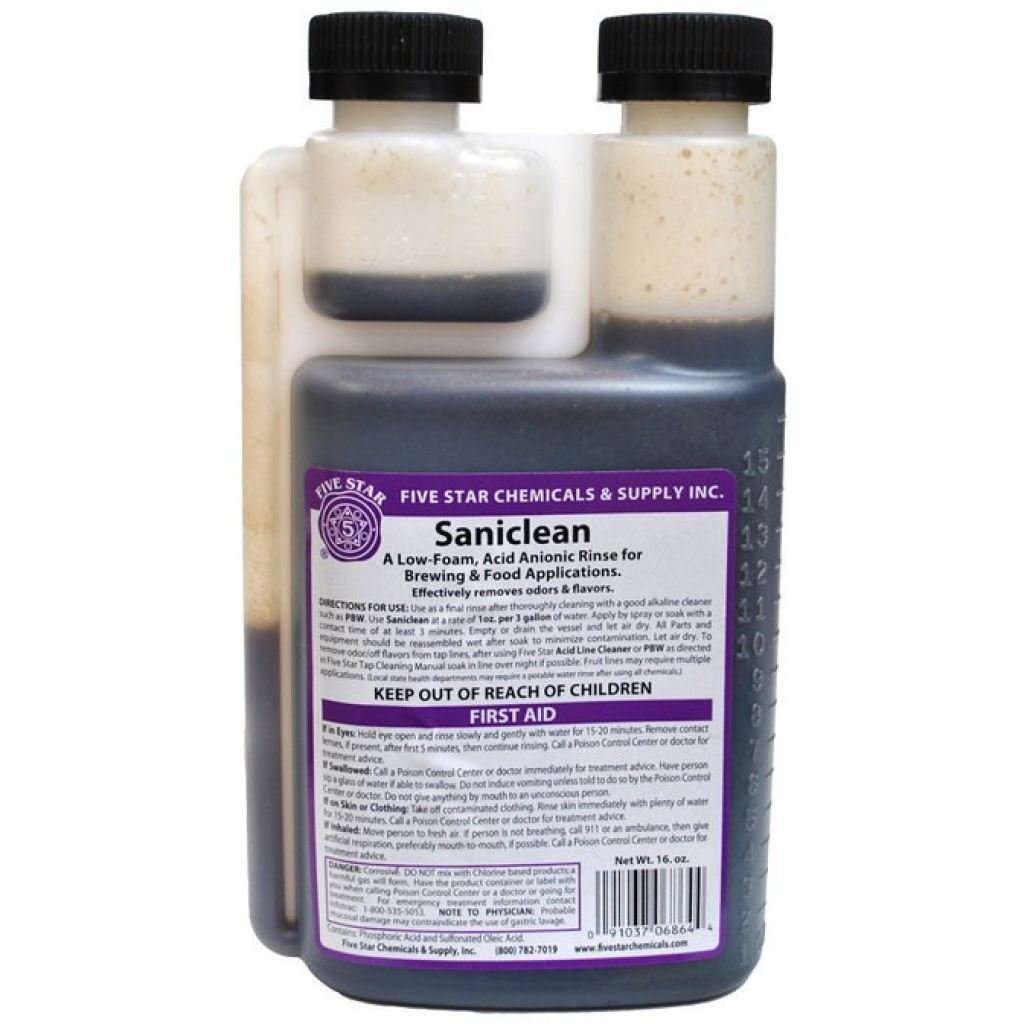 Five Star Chemicals Saniclean-16 oz Bottle