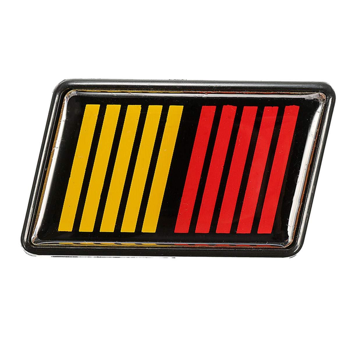 Badge double couleur pour grille avant Lancer Evolution X K COD