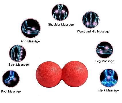 ueasy Incluso pelota de masaje/Duo pelota de entrenamiento de los ...