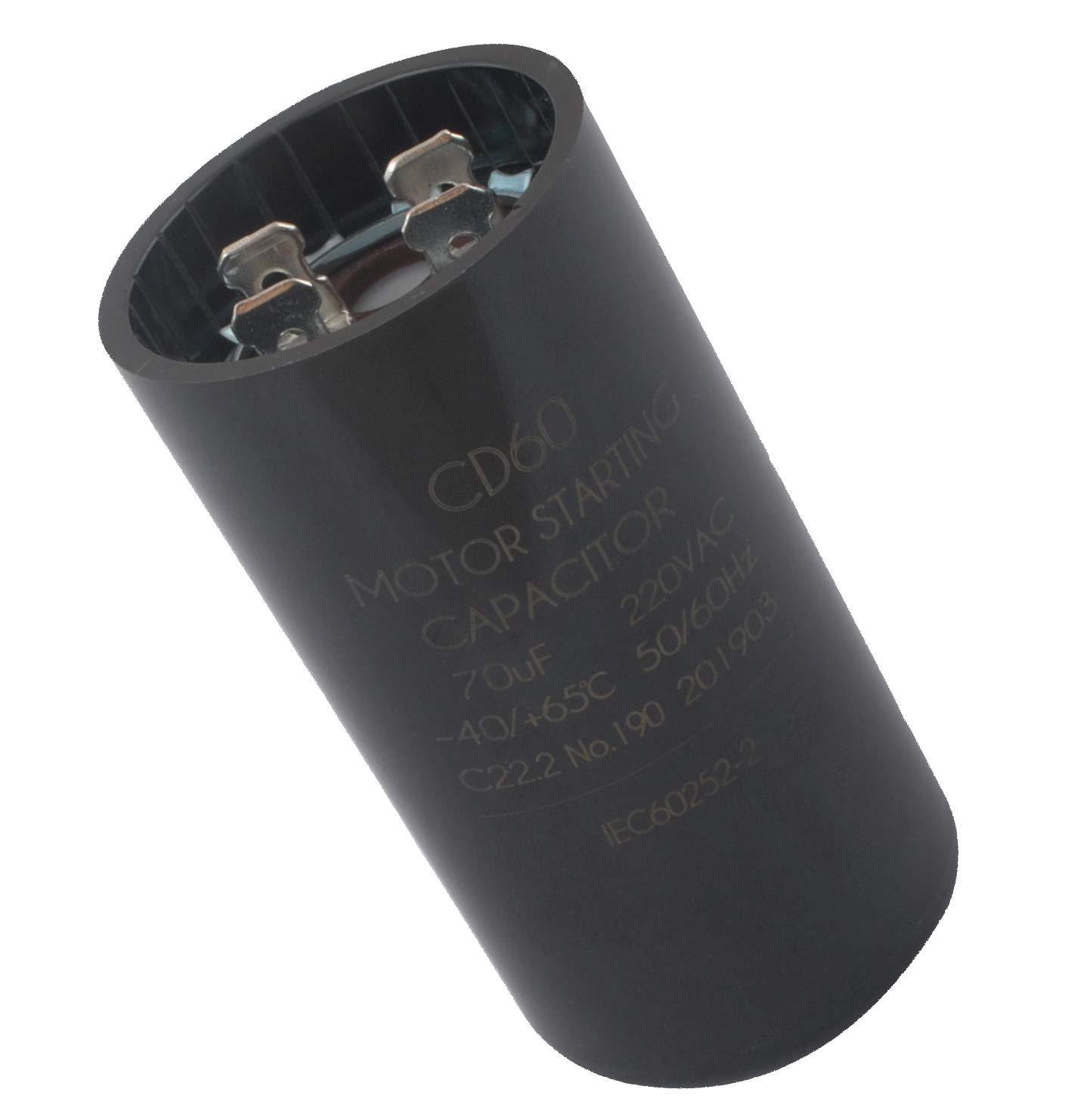19988A Capacitor Garage Door Opener 70 Microfarad (MFD), 220 Volts AC (VAC), 60 Hertz (Hz) OEM Upgrade for Genie 19988A, 19988 and x-19988-a Garage Door Opener Capacitor