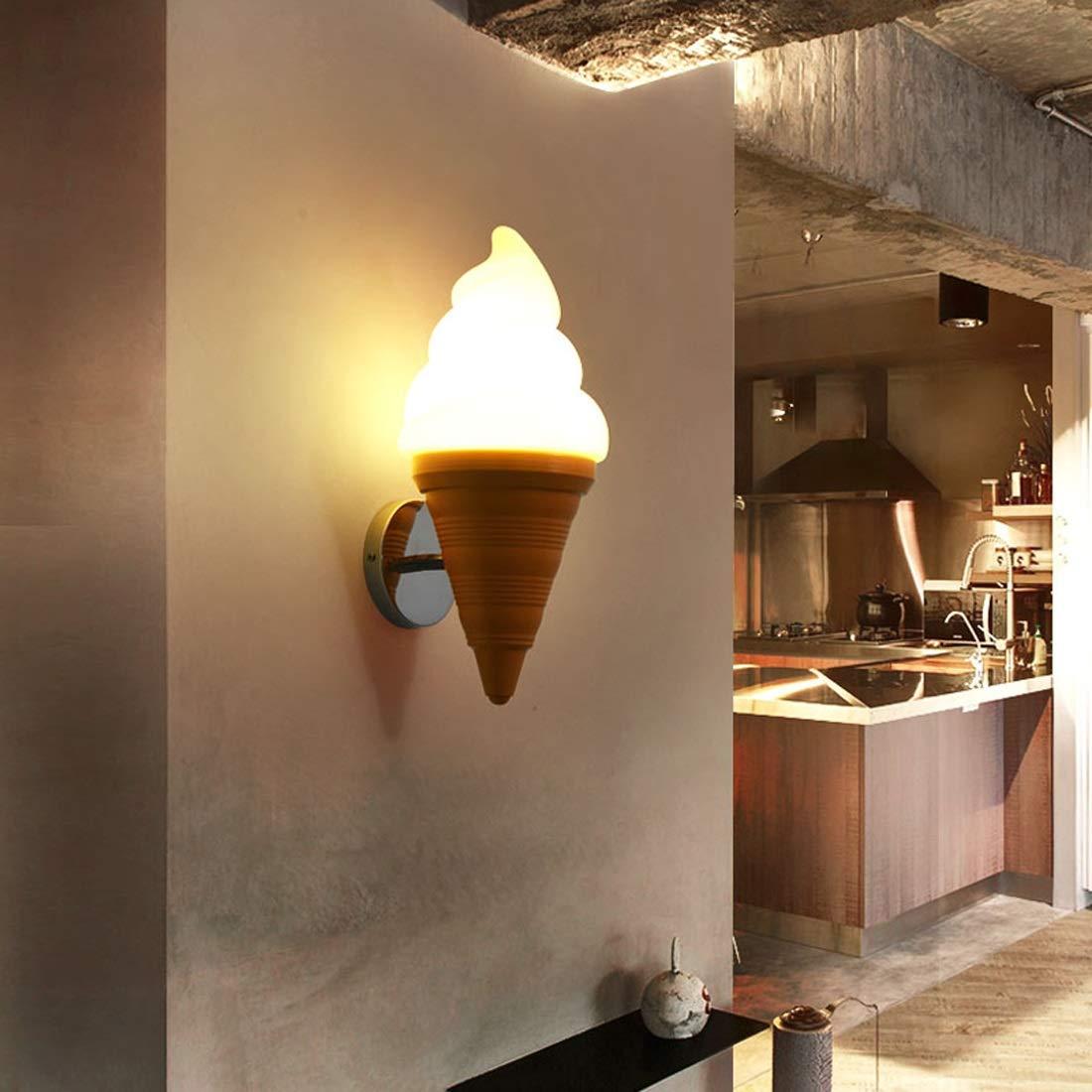 Cafe Restaurant Bar Kaltes Getr/änk Dessert Shop Kinderzimmer Kreative Lampen Eist/üte EIS Wandleuchte Cartoon Wandlampen Led Halterung 7 Watt Design : Warmes Licht