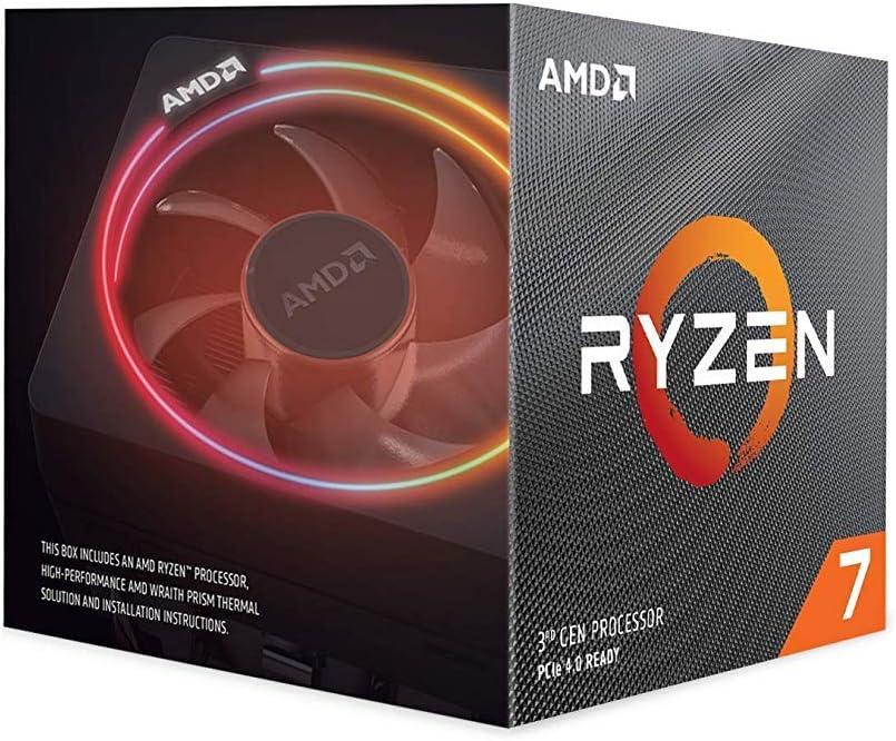 AMD Ryzen 7 3700X, Procesador con Disipador de Calor Wraith Prism (36 MB, 8 Núcleos, Velocidad de 4.4GHz, 65W): Amd: Amazon.es: Informática