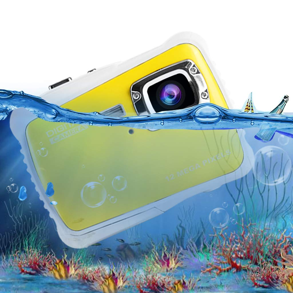 Underwater Camera for Kids, Waterproof Digital Camera Children Gift Mini Action Sport Camcorder 12MP HD/2.0 Inch LCD Display/8X Digital Zoom with 8GB SD Card & Batteries by Jamal (Image #8)