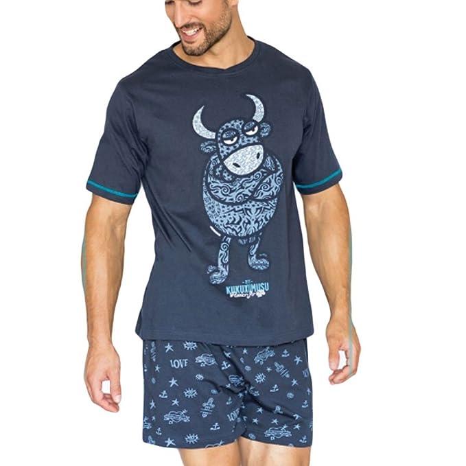 Kukuxumusu - Pijama Chico Hombre Color: Marino Talla: XX-Large