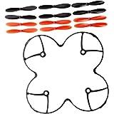3 x Juegos de Helices o palas recambio Hubsan X4 H107L, H107C, H107D, Nanodrone vCAM y Skyview, Top selling X6 (Rojas y negras)