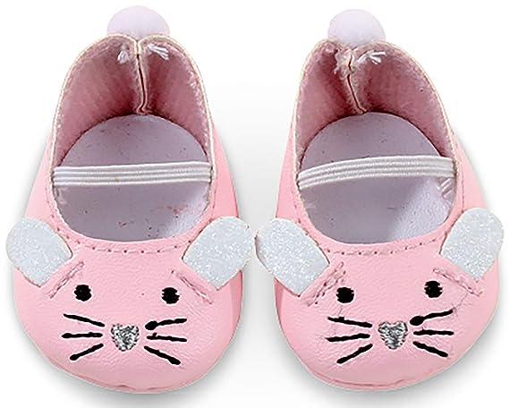 Götz 3402539 Mäuschen Puppenschuhe - Puppenkleidung & Puppenzubehör für Babypuppen Gr. S von 30 - 32 cm