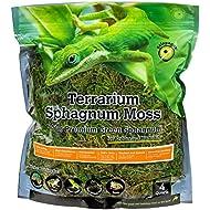 Galápagos (05213) Terrarium Sphagnum Moss, 5-Star Green Sphagnum, Natural, 4QT