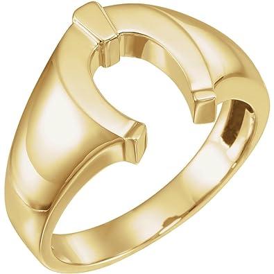Amazon.com: FB Jewels - Anillo de herradura para hombre, oro ...