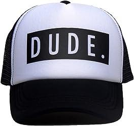 f5919d6284563 DongKing Trucker Hats for Kids Dude Pattern Print Summer Mesh Baseball Cap
