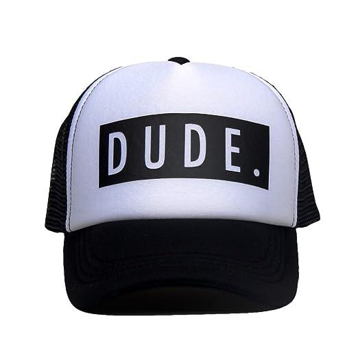 ef3d03b2 DongKing Trucker Hats for Kids Dude Pattern Print Summer Mesh Baseball Cap ( Dude)