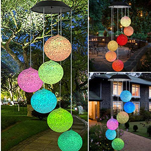 Fish Solar Blanket -  LED light Clearance , Solar Powered Wind Chime Light LED Garden Hanging Spinner Lamp Color Changing by Little Story