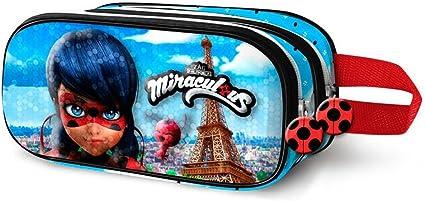 Miraculous – Estuche escolar doble 3d Luxe Miraculous Ladybug Eiffel: Amazon.es: Oficina y papelería