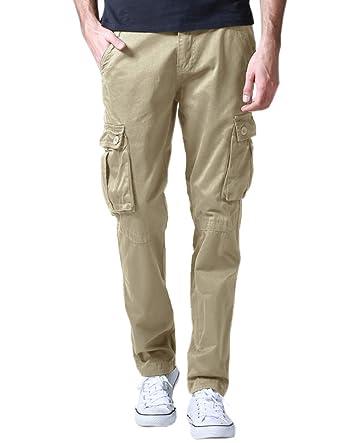 Match 6531- Pantalones Cargo Casual Múltiples Bolsillos para Hombre