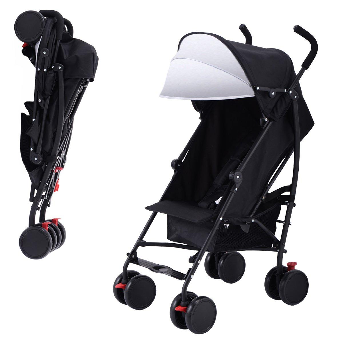 Costzon Umbrella Stroller Lightweight Baby Toddler Pushchair Travel Jogger w/Storage Basket (Black)