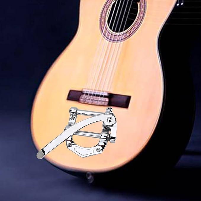 delaman puente cordal de aleación de zinc Classic cromo unidad de Vibrato para guitarra eléctrica Tremolo Bar puente B-STOCK para soporte de Top Guitarra ...