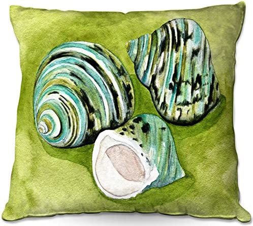 Outdoor Patio Couch Quantity 1 Throw Pillows from DiaNoche Designs by Marley Ungaro – Green Turbo Shells