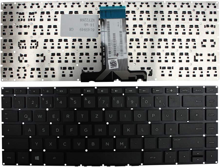 Keyboards4Laptops German Layout Black Windows 8 Laptop Keyboard Compatible with HP Pavilion 14-ab115TU HP Pavilion 14-ab115TX HP Pavilion 14-ab116TU HP Pavilion 14-ab117TU HP Pavilion 14-ab116TX