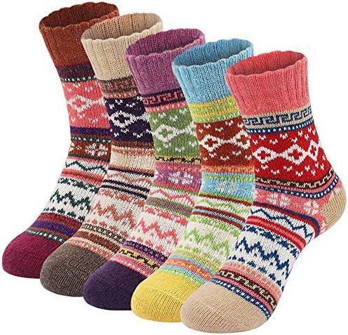 White Green Wool Woolen Socks Warm Knitted Winter High-Quality House Home Socks Women Unique Socks Housewarming Birthday Valentines Gifts