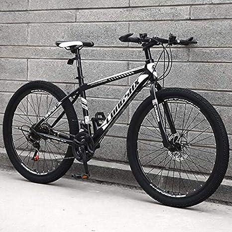 GASLIKE Bicicleta de montaña para Hombre Mujer, Bicicleta de montaña con Marco de Acero de Alto Carbono, Bicicleta de montaña con suspensión Delantera con sillín Ajustable: Amazon.es: Deportes y aire libre