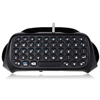 Wireless Keyboard for PS4 Controller , Megadream Digital New Version Black  Mini 2 4GHz Bluetooth Wireless Keyboard Keypad for PlayStation 4 PS4